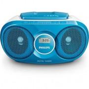 Philips Poste radio CD Bleu Philips AZ25N/12