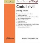 Codul civil si 9 legi uzuale act. 21 septembrie 2016