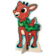 WeGlow International Rudolph The Red-Nosed Reindeer Color-In Wood Doll Kit - Rudolph (2 Kits)