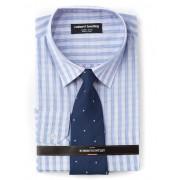 Huntley Pink & Navy Shirt And Tie - Pink/Navy 47-48
