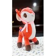 Gifts Online Stuffed Soft Plush Toy Deer 26cm - Kids Birthday (Set Of 6 For Birthday Return Gifting)