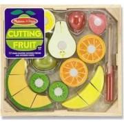 Set fructe lemn pentru taiat - Melissa and Doug