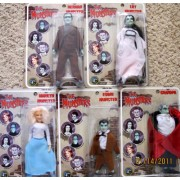 """Classic TV The MUNSTERS Complete Set 5 Dolls 8"""": Lily Munster, Herman, Grandpa, Marilyn & Eddie Munster Dolls (2004) by The Munsters"""