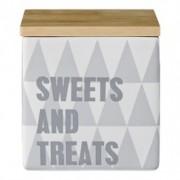 "Recipient pentru depozitare "" Sweets and treats "" Gri, Portelan"