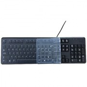 Anti Dust Waterproof Silicone Keyboard Protector Skin Cover for Dell Keyboard KB212-B KB4021 US Version (Clear)