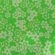 Goma eva 35x47 verde con flores blancas