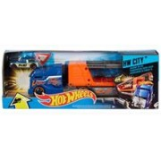 Jucarie Hot Wheels City Crashin' Big Rig Transporteur Super Crash Blue Truck