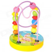 Wooden Mini Beaded Wired Maze Educational Toy - Multicolor