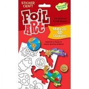 Peaceable Kingdom Foil Art Fun Stuff 3D Sticker Craft Pack