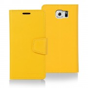 Korean Mercury Sonata Wallet Case for Samsung Galaxy S6 Edge Plus - Yellow