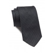 BOSS Hugo Boss Woven Silk Tie MEDIUM GREY