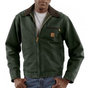 Carhartt Detroit Sandstone Jacket - Blanket Lined Factory Seconds MOSS (11)