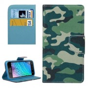 Camouflage Pattern Horizontal Flip Leather Case with Holder & Card Slots & Wallet for Samsung Galaxy J2 / J200