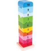 Turnulet din lemn cu numere