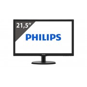 Philips 223v5lsb2 full hd 1080p zwart nieuw in doos incl 2 jaar garantie