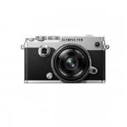 Aparat foto Mirrorless Olympus PEN-F 20.3 Mpx Silver Kit 17mm f/1.8