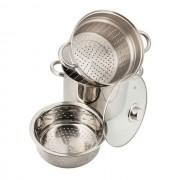 Oala inox pentru paste si fiert la aburi 7.5 l KingHoff