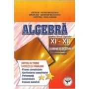 Algebra Cls 11-12 - Sinteze De Teorie. Exercitii Si Probleme - Catalin-Petru Nicolescu