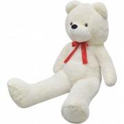 vidaXL Мека плюшена играчка мече, бяла, 150 см, XXL