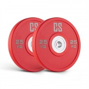Capital Sports Performan Urethane Plates Gewichtsplatten Paar 25kg Rot