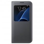 Samsung S-View Cover EF-CG935PBEGWW - оригинален кожен калъф за Samsung Galaxy S7 Edge (черен)