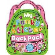 My Funky Sticker Backpack by Chris Scollen