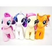 My Little Pony Plush Doll 4 Pieces Doll Set 6.5 - Pinkie Pie, Rarity, Applejack, Fluttershy Plush Doll Set by Aurora