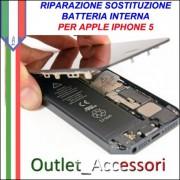 Sostituzione Batteria Pila Inerna Non Carica Apple Iphone 5 5g