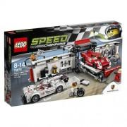 LEGO Speed Champions - Set con puesto de reparación para Porsche 919 Hybrid y 917K, multicolor (75876)
