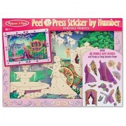 Melissa & Doug Peel and Press Sticker by Number Activity Kit: Fairytale Princess - 80+ Stickers Frame