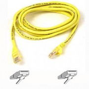 Belkin Cable patch CAT5 RJ45 snagless 3m yellow 3m networking cable
