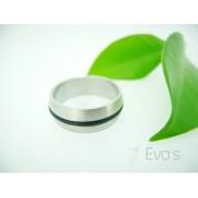 Unisex prsten z oceli a kaučuku