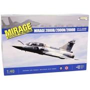 Kinetic 1:48 Modellino Aereo- Dassault Mirage 2000B / 2000D / 2000N - KIN48032