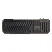 Klávesnica Zalman ZM-K200M, multimediálna, 10 hot keys, black, USB, ENG