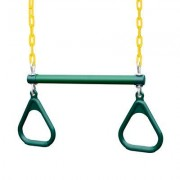 "Gorilla Playsets 17"""" Trapeze Bar with Rings 04-0006 G/Y"