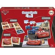 Educa - 14927 - Jeu éducatif et puzzles - Superpack 4 en 1 - Cars