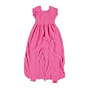 Baby Boum Unisex Baby Lightweight Cotton Rich 1.0 Tog Sleeping Bag Jumpsuit with Gorgeous Smock Detail