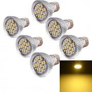8W E26/E27 Lâmpadas de Foco de LED MR16 15 SMD 5630 700 lm Branco Quente Decorativa AC 85-265 V 6 pçs