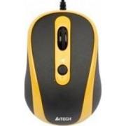 Mouse A4Tech N-250X-3 V-track Padless USB Black.Yellow