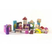 Galetusa Cuburi MomKi Colorate pentru constructie 100 bucati