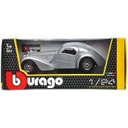 Bburago Bugatti Atlantic Scale-1:24 Die Cast Toy Car (Grey)