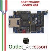 Sostituzione Riparazione Cambio Saldatura Connettore 6R8 Bobina Retroilluminazione per Apple Iphone 3G 3GS