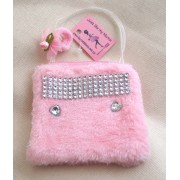 JUST LIKE MY MUMS Girls Pink evening bag with a Free Ponio made in the UK