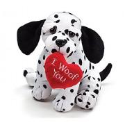 Valentines Day Puppy Dalmatian I Woof You 8 in Juguete De Peluche