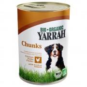 Yarrah Bio, 6 x 820 g - Kurczak i wołowina w sosie