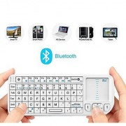 Rii K02+ 4 In 1 Multifunction Portable Mini Wireless Bluetooth Version Keyboard with Touchpad Mouse Laser Pointer And Backlit LED KODI XMBC Rechargable Keyboard Multi-media Portable Handheld Android Keyboard for PC Laptop Raspberry PI MacOS Linux HTP