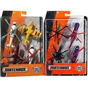 Matchbox Sky Busters Fire Rescue & Helicopter Pack Planes & Choppers MBX Rescue Blade / Blaze Buster / R.S.Q 55X / RSQ-SB72 / Blade Force / Air Grabber 1200 / Sky Shredder / H.E.L.I.X.
