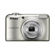 Nikon Coolpix A10 Point and Shoot Digital Camera (Silver) with 8GB Memory Card and Camera Case