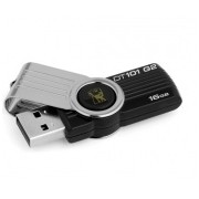 Memoria USB Kingston DataTraveler 101 G2, 16GB, USB 2.0, Negro