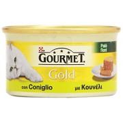 Gourmet - Patãš Con Coniglio, Alimento Completo Per Gati Adulti - 85 G